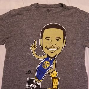 Adidas Stephen Curry graphic gray t-shirt size Sm